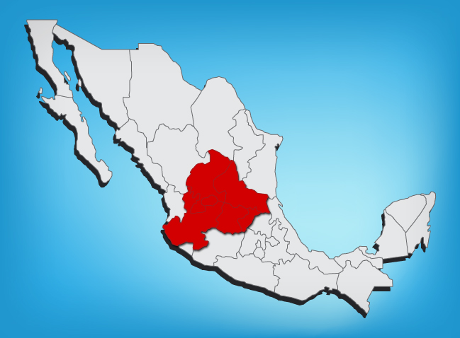 Lowlands area in Mexico